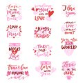 Love Vector Lovely Calligraphy Lovable Lettering Iloveyou Quote With Heart Sign For Lover On Valentines Day Beloved Card Royalty Free Stock Photo - 107322925