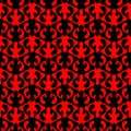 Red Flames Hell Seamless Pattern Background Royalty Free Stock Image - 107331746