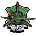 Fighter Plane Division Badge Royalty Free Stock Photo - 107349025