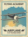 Vintage Aircaft Poster. Vector Illustration Royalty Free Stock Photo - 107415245