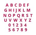 Alphabet With Red And Pink Stock Images - 107443834