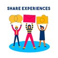 Share Online Content Social Media Network Concept Royalty Free Stock Image - 107445666