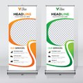 Roll Up Banner Design Template, Vertical, Abstract Background, Pull Up Design, Modern X-banner, Rectangle Size. Stock Photos - 107450113