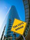 Tax Cuts Ahead Royalty Free Stock Photography - 107478857