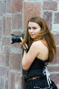 Young Woman With Photo Camera. Royalty Free Stock Photo - 10752475
