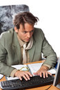 Stressed Businessman Royalty Free Stock Photography - 10753167