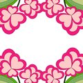 Colorful Heart Flower Plant Border Frame Close Up View. Royalty Free Stock Photo - 107550245