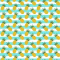Pattern With Pineapple And Stripes Royalty Free Stock Image - 107551456