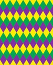 Mardi Gras Abstract Geometric Pattern. Purple, Yellow, Green Rhombus Repeating Texture. Endless Background, Wallpaper Royalty Free Stock Images - 107595939