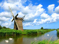 Ruined Windmill Norfolk Stock Photography - 10764332