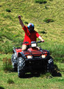 Quad - Atv Driver Royalty Free Stock Photos - 10765618