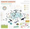 Isometric 3d Antarctica Flora And Fauna Map Elements. Animals, B Stock Photography - 107616682