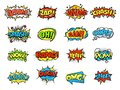 Collection Of Bright, Colorful, Multi-colored Speech Bubbles, With Text, Texture. Royalty Free Stock Images - 107651599