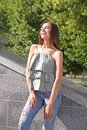 Beautiful Young Woman Outdoors Royalty Free Stock Photo - 107677125