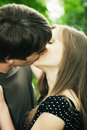 Guy Kisses The Girl Royalty Free Stock Images - 10779249