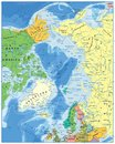 Arctic Ocean Political Map Royalty Free Stock Image - 107779346