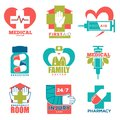 Medical Cross And Heart Vector Icons For First Aid Medicine Or Doctor Hospital Center Royalty Free Stock Image - 107784496
