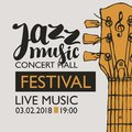 Banner For Festival Jazz Music With A Guitar Neck Royalty Free Stock Photography - 107794907