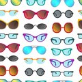Cartoon Glasses And Sunglasses Seamless Pattern Background. Vector Stock Photo - 107798780