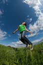 Girl Jumping Outdoor Royalty Free Stock Images - 10781059