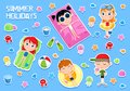 Summer Holidays - Adorable Sticker Set - Kids And Beach Party Elements Royalty Free Stock Photos - 107819308