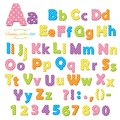Cute Polka Dot Colored Font For Kids. Stock Images - 107884064