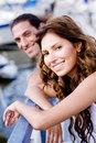Young Couple On A Footbridge Stock Image - 10791481