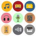 Simple Musical Symbol Icons Vector Illustration Graphic Set Royalty Free Stock Photography - 107937217