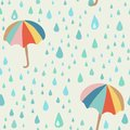 Vector Doodle Pattern With Rain Drop And Umbrella. Beautiful Abstract Pattern, Season Illustration Royalty Free Stock Photography - 107977847