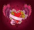 Pink Heart With Wings Royalty Free Stock Images - 10802479