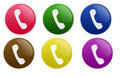 Glossy Telephone Button Stock Images - 10803544