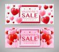Valentines Day Sale Promotional Creative Design Banners Set Stock Photography - 108086502