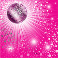 Background - CD Cover Design With Disco-ball Royalty Free Stock Image - 10814136