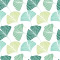 Seamless Pattern With Ginkgo Biloba Leaves Stock Photos - 108182833