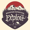 Outdoor Mountain Expedition Typography Stock Photography - 108193452