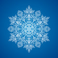 Single Detailed Snowflake Ornament Stock Photography - 10822932