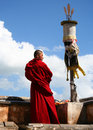 A Monk In Ta Er Monastery Stock Photography - 10824802