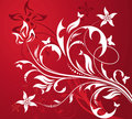 Red Floral Background Royalty Free Stock Photography - 10829997