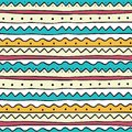 Ethnic Seamless Pattern In Hand Drawn Doodle Style Stock Photography - 108249042