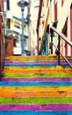 Closeup Of Colorful Staircase Royalty Free Stock Image - 108275186