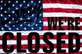 Government Shutdown Symbolism Sorry We`re Closed Sign Stock Photos - 108277763