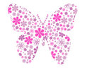 Vector Butterfly With Flower Texture Royalty Free Stock Image - 10837706