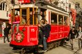 People In An Old Tram In İstanbul Stock Photos - 108333203