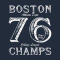Boston Champ - Typography For Design Clothes, Athletic T-shirt. Graphics For Print Product, Apparel. Badge For Original Sportswear Stock Photo - 108334320