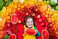 Healthy Fruit And Vegetable Nutrition For Kids Royalty Free Stock Photography - 108337737