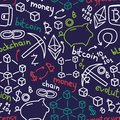 Seamless Pattern In Hand Drawn Style For Cryptocurrency Stock Photo - 108360460