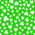 Green Clover Leaves, Seamless Pattern. St. Patrick`s Day Background Stock Images - 108379724