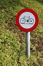 No Cycling Sign Stock Photography - 10841712
