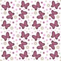 Seamless Pattern With Butterflies And Ornaments Stock Photo - 108436230