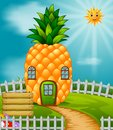 Pineapple House In Garden Stock Photos - 108439633